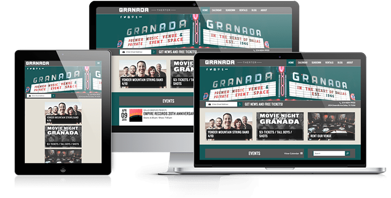 The Granada Theater - Responsive Web Design