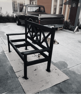 Jeremy Schuler - Woodworking - Rustic Porch Bench with Stain
