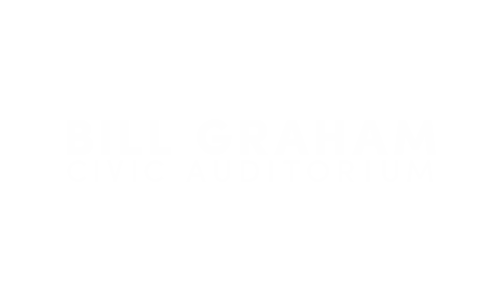 Bill Graham Civic Auditorium - Logo Stacked White