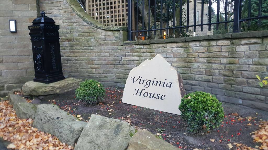 large house sign