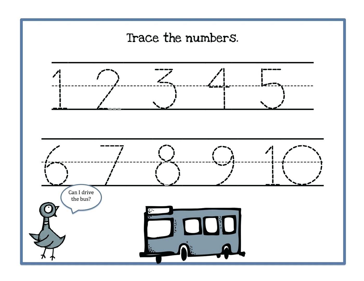 Free Printable Mirrored Numbers
