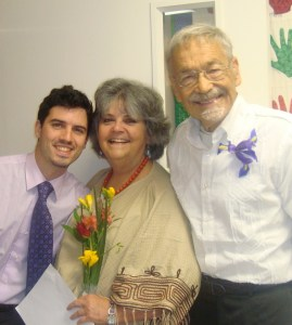 Silvia with her son Alessandro, and husband Jim