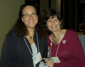 With Laurie Ratto at the California Healing Touch Conference