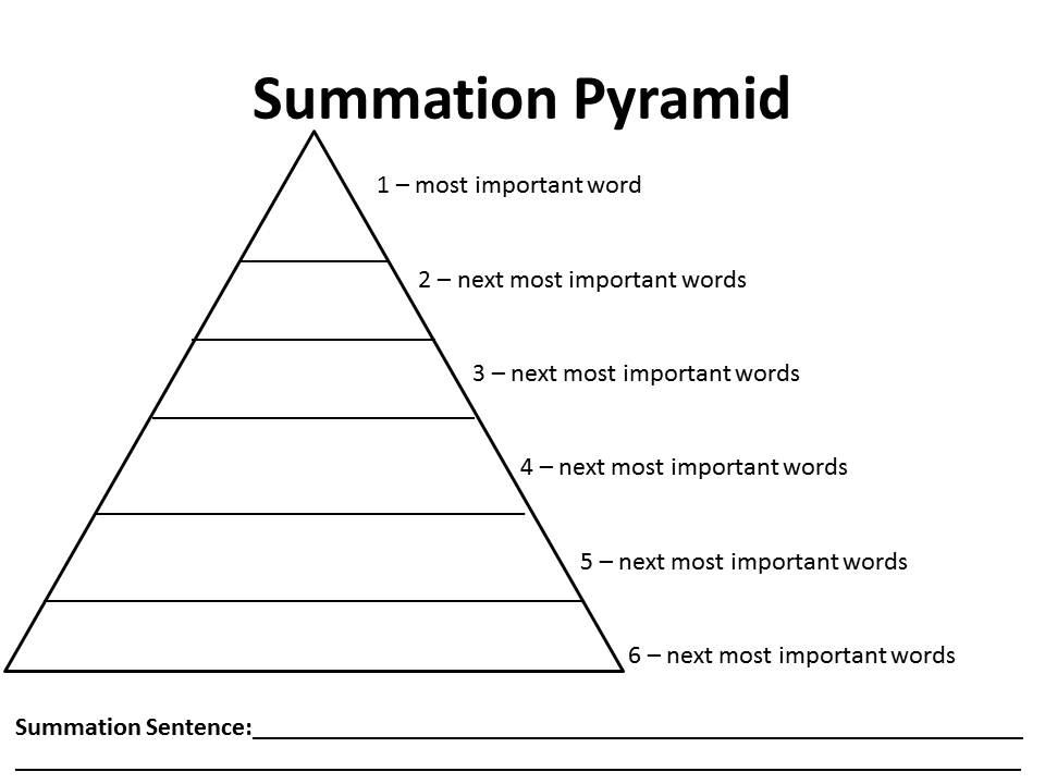 word pyramid template