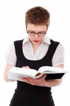 Image of Woman Reading a Book