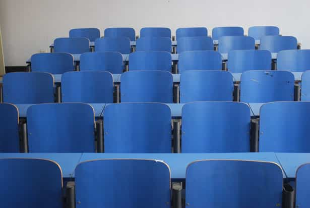 picture of empty seats in lecture hall