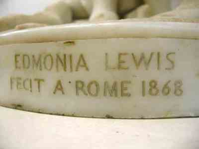 Edmonia Lewis Indian Combat Sculpture Base