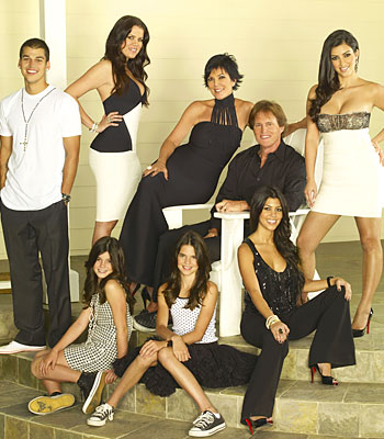 """The cast - er - family of E!'s """"Keeping up with the Kardashians."""""""