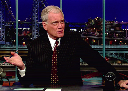 Letterman taking care of business and setting the record straight.
