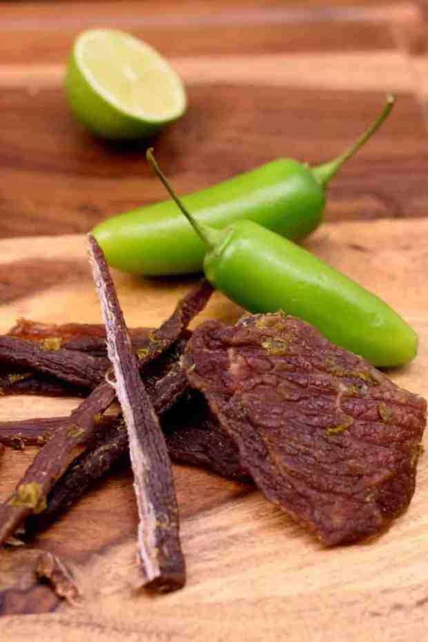 An easy to make jerky seasoned with a little spice from the jalapenos and delightful sourness from the limes | Jerkyholic.com