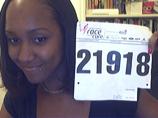 This was my number at the 5K Race