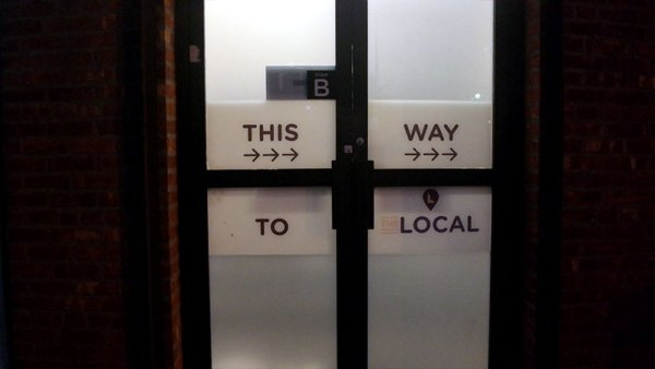 This way to  Local