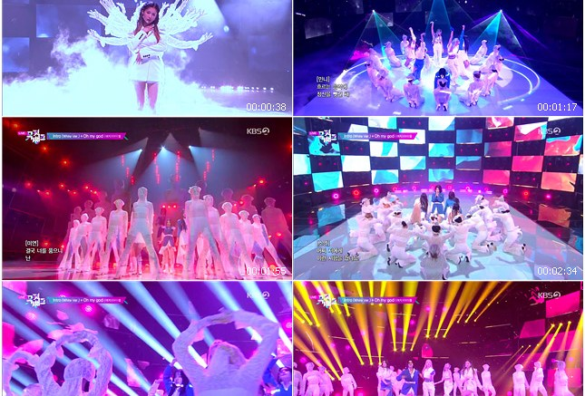 200410 KBS Music Bank (G)I-DLE - Intro (White Ver.) + Oh my god