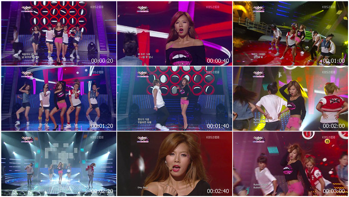 110729 KBS Music Bank HyunA - Bubble Pop!