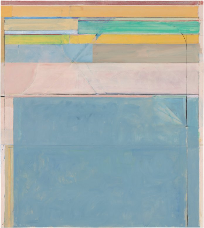 Richard Diebenkorn. Ocean Park #116, 1979. Oil and charcoal on canvas. 208.3 x 182.9 cm. Fine Arts Museums of San Francisco, museum purchase, gift of Mrs. Paul L. Wattis . Copyright 2014 The Richard D