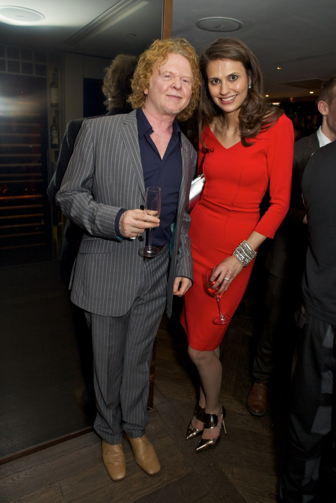 Mick Hucknall & Olivia Cole attend Spectator Life 3rd Birthday at Belgraves Hotel
