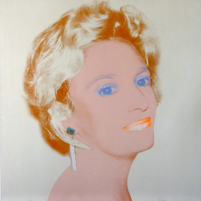 Andy Warhol, The Socialite, 1986-1987, 40 x 40 inches. Long-Sharp Gallery.