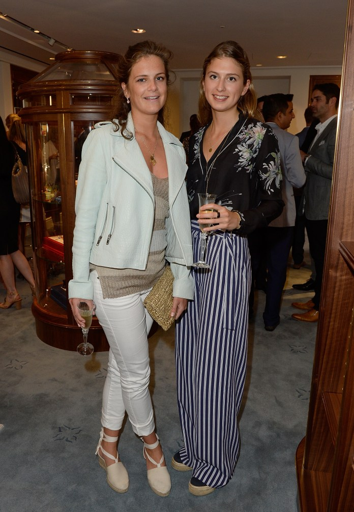 LONDON, ENGLAND - JUNE 24: Lady Jemima Herbert and Lady Alice Herbet attend William & Son new flagship store launch on June 24, 2015 in London, England. (Photo by David M. Benett/Dave Benett / Getty Images for William & Son) *** Local Caption *** Lady Jemima Herbert; Lady Alice Herbet