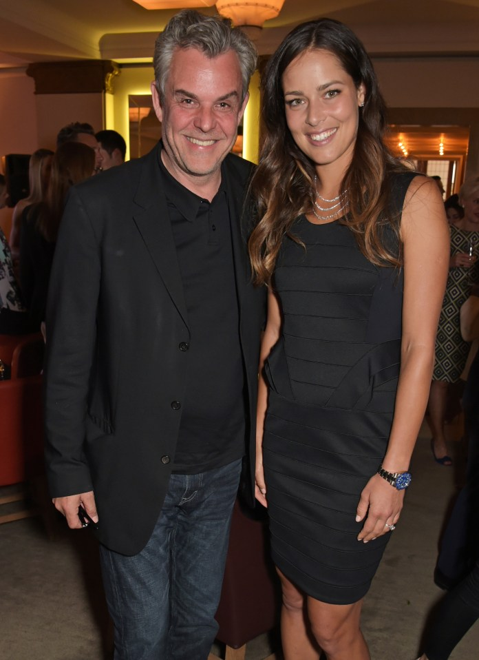 LONDON, ENGLAND - JUNE 24: Danny Huston (L) and Ana Ivanovic attend the Quercus Foundation Pre-Wimbledon Cocktails with Ana Ivanovic in the Ten Room at Hotel Cafe Royal on June 24, 2015 in London, England. Pic Credit: Dave Benett