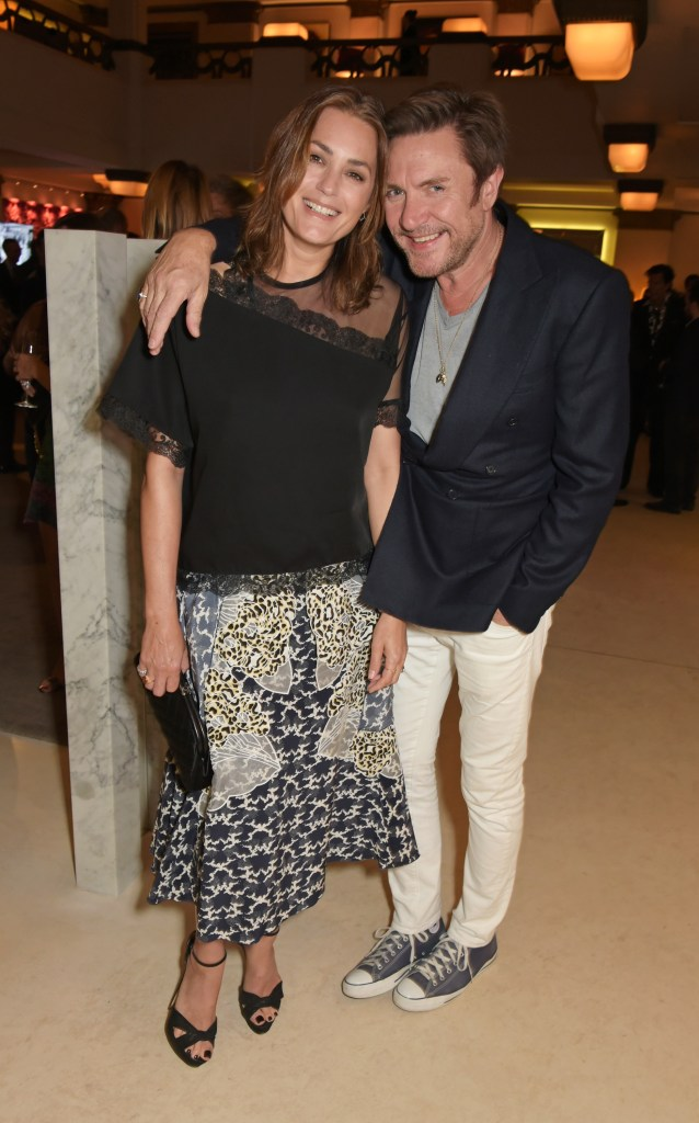 LONDON, ENGLAND - JUNE 24: Yasmin Le Bon (L) and Simon Le Bon attend the Quercus Foundation Pre-Wimbledon Cocktails with Ana Ivanovic in the Ten Room at Hotel Cafe Royal on June 24, 2015 in London, England. Pic Credit: Dave Benett