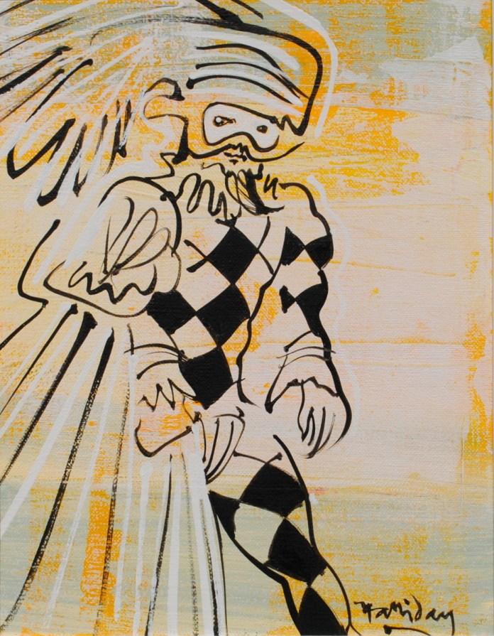 Alan Halliday, 'Harlequin Venice' , 37cm x 25cm, 2015, from Camburn Fine Art