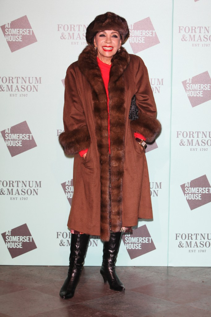 LONDON, ENGLAND - NOVEMBER 17: Dame Shirley Bassey attends the opening party of Skate at Somerset House with Fortnum & Mason at Somerset House on November 17, 2015 in London, England. The stylish ice rink opens to the public on Wednesday 18th November and runs until Sunday 10th January 2016. Pic Credit: Dave Benett