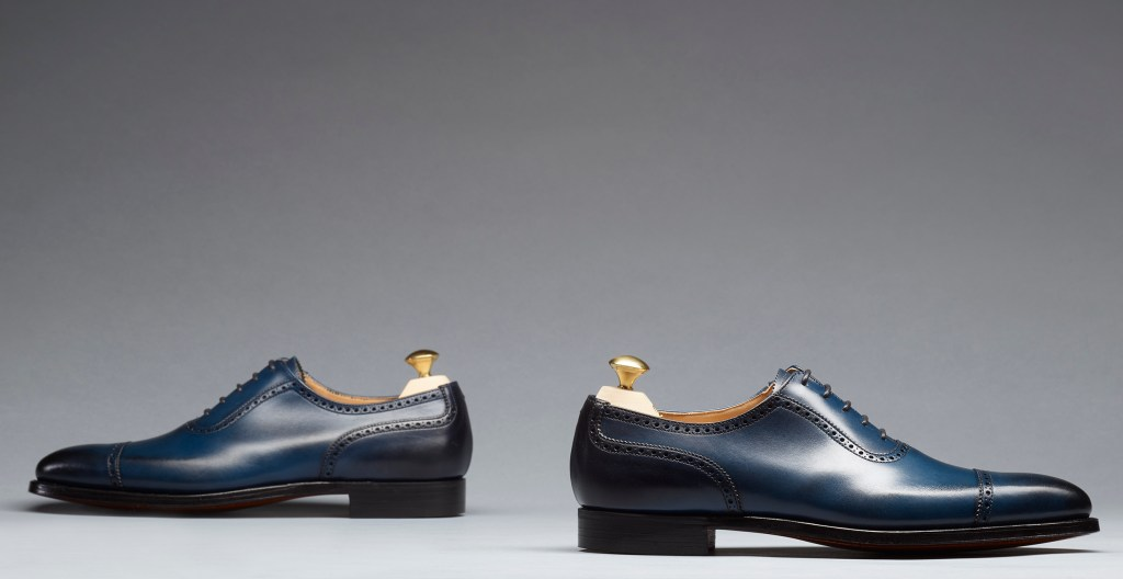 Westbourne | Blue Burnished Calf | Last 348 | Single Leather Sole | RRP £405