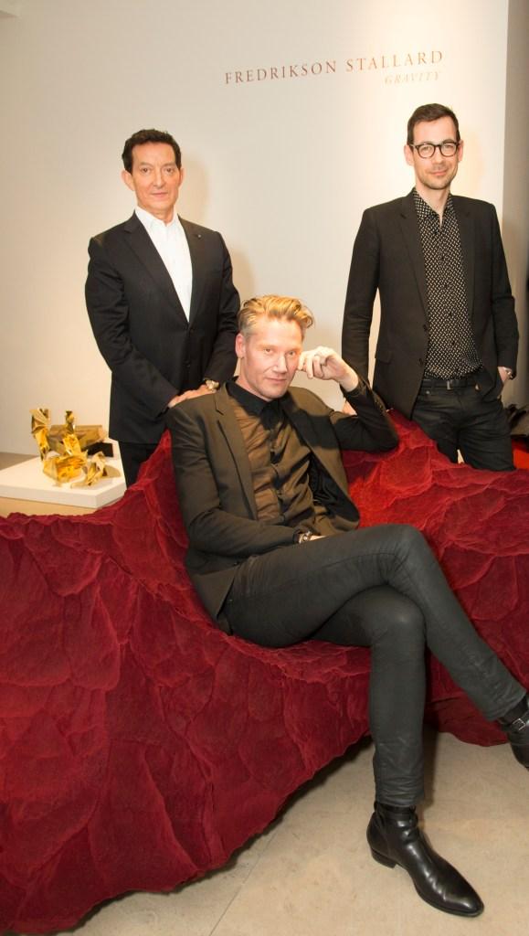 [David Gill, Patrik Fredrikson (seated) Ian Stallard ]