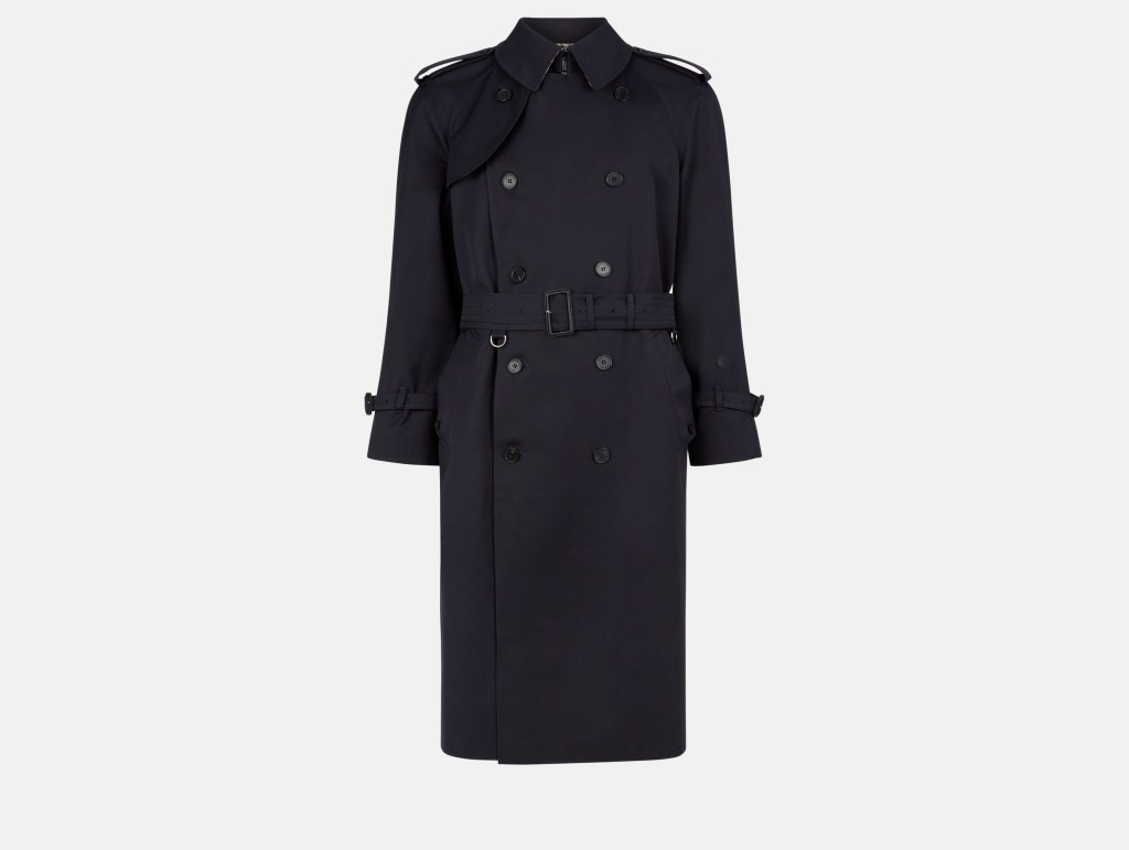Bogart Trench Coat - Navy - £850