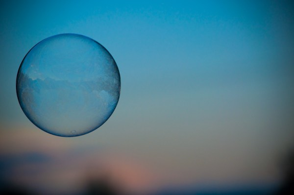 Bubble Aloft in Sunset