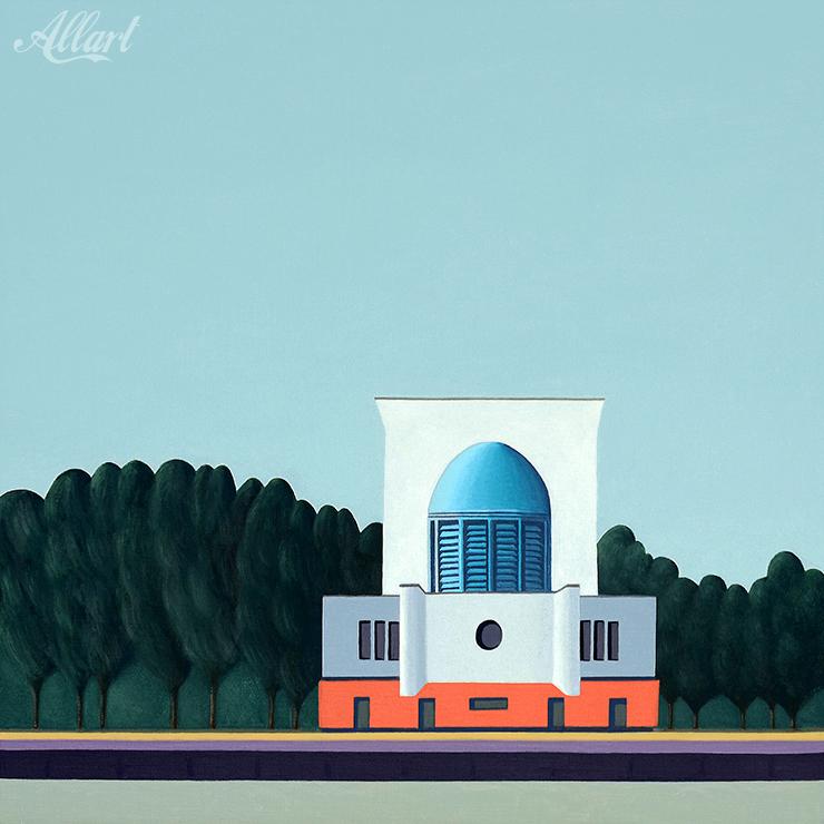 Maastunnel / 50x50 / oil / Jeroen Allart / 2019