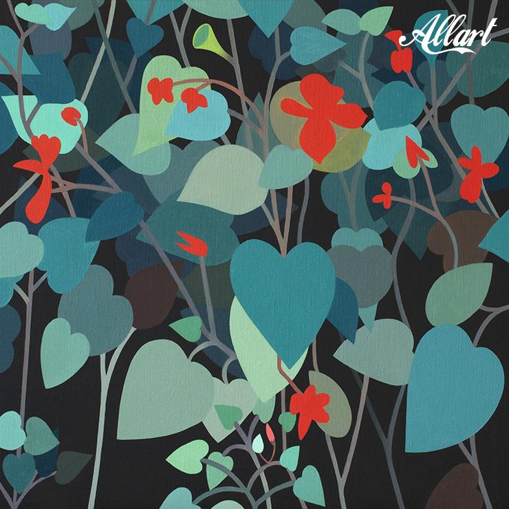 Flower / 50x50cm / oil / © Jeroen Allart / 2020
