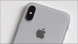 De dubbele camera van een iPhone X