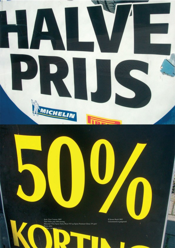 50 procent halve prijs