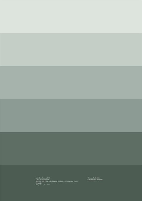 Lelijke kleurenleer III