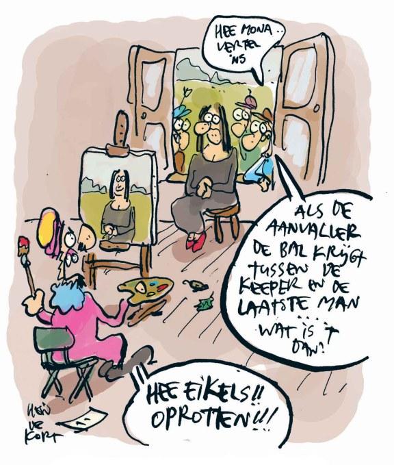 Mona Lisa buitenspel?