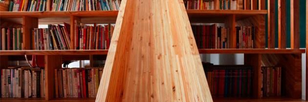 Glijbaan in de bibliotheek