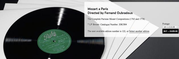 Heruitgave Mozart LP-box voor 'slechts' €2.900