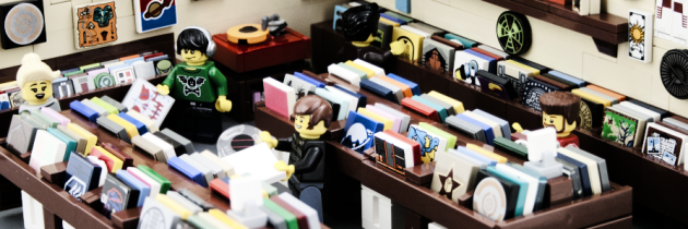 Prachtige platenzaak van LEGO
