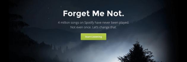 Forgotify: ontdek nooit beluisterde muziek in Spotify