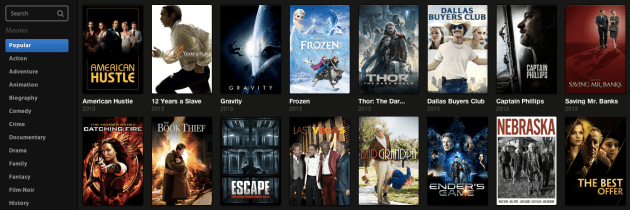 Streaming BitTorrentfilms kijken met Popcorn Time