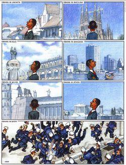 Obama en visite...
