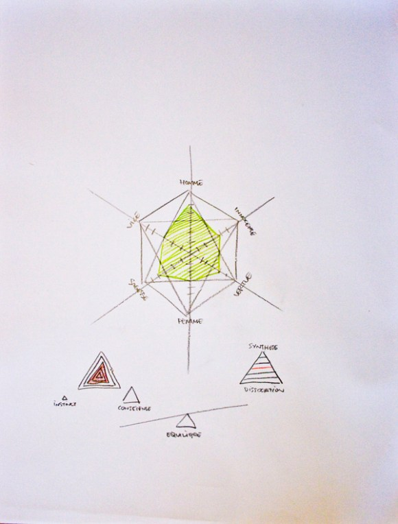 jerome pierre dessins portrait diagrammatic vert
