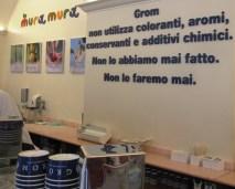 Área de servicio de la Heladería Gröm, una empresa exitosa en medio de la crisis en Europa