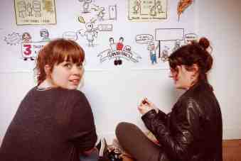 Patricia Parreira y Coral Fernández en el Agility TRes60