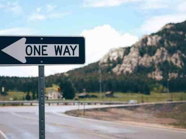 One way signal - dirección