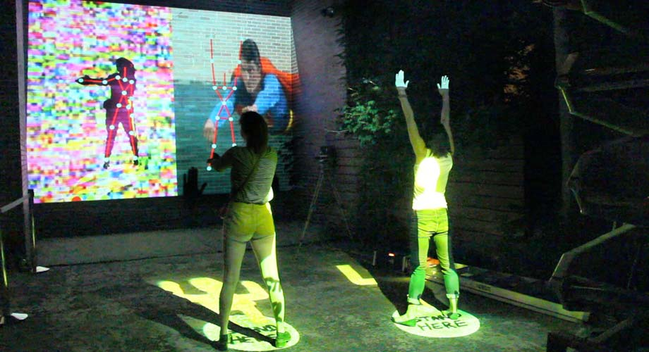 Interactive Events   try street games  projection displays   Jerrem