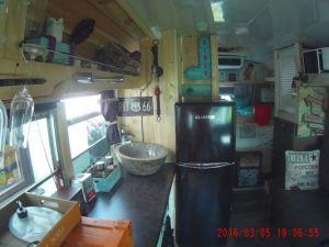 Schulbus Küche
