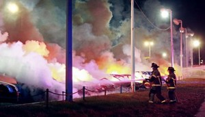 Fires in Ferguson, Missouri