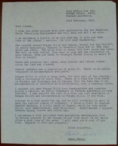 Correspondence from Basil Smith, 23.2.1982